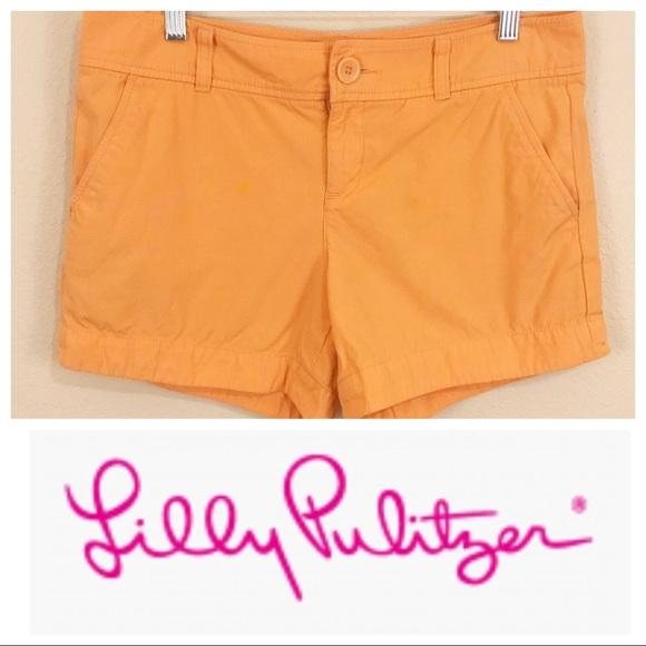 Lilly Pulitzer Pants - Lily Pulitzer Orange Cotton Shorts Sz 8